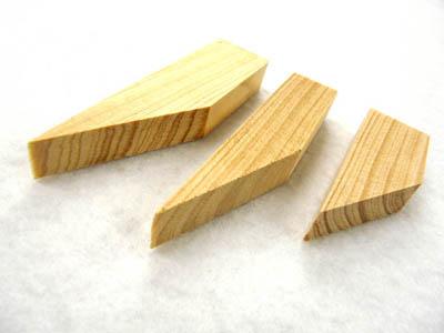 あおりねっとオリジナル ピトン固定用木製クサビ